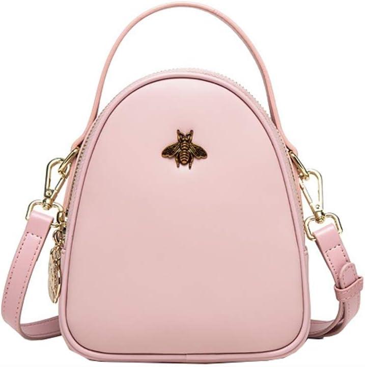 Nosterappou Fashion Messenger Bag Female Small Bag Joker Mini Tote Bag Shoulder Bag Youth Fashion Color : Pink