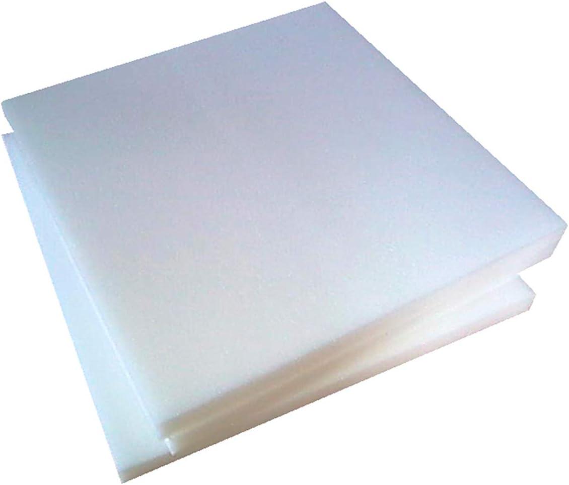 SPUGNA 6 Pezzi Quadrati Di Imbottiture Per Sedie Poliuretano Espanso Alta Densita' 30 Spessore 3 Centimetri Misura 40x40