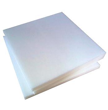 Arketicom - Relleno cuadrado para sillas, de poliuretano expandido, alta densidad, 30 HD, 3 cm de grosor, 5 tamaños - 6 unidades: Amazon.es: Hogar