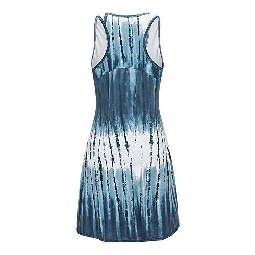 AYDOG Dress Cover Beachwear Racerback Casual Ups Dye Womens Tie Blue Summer Tank gxBq1ga