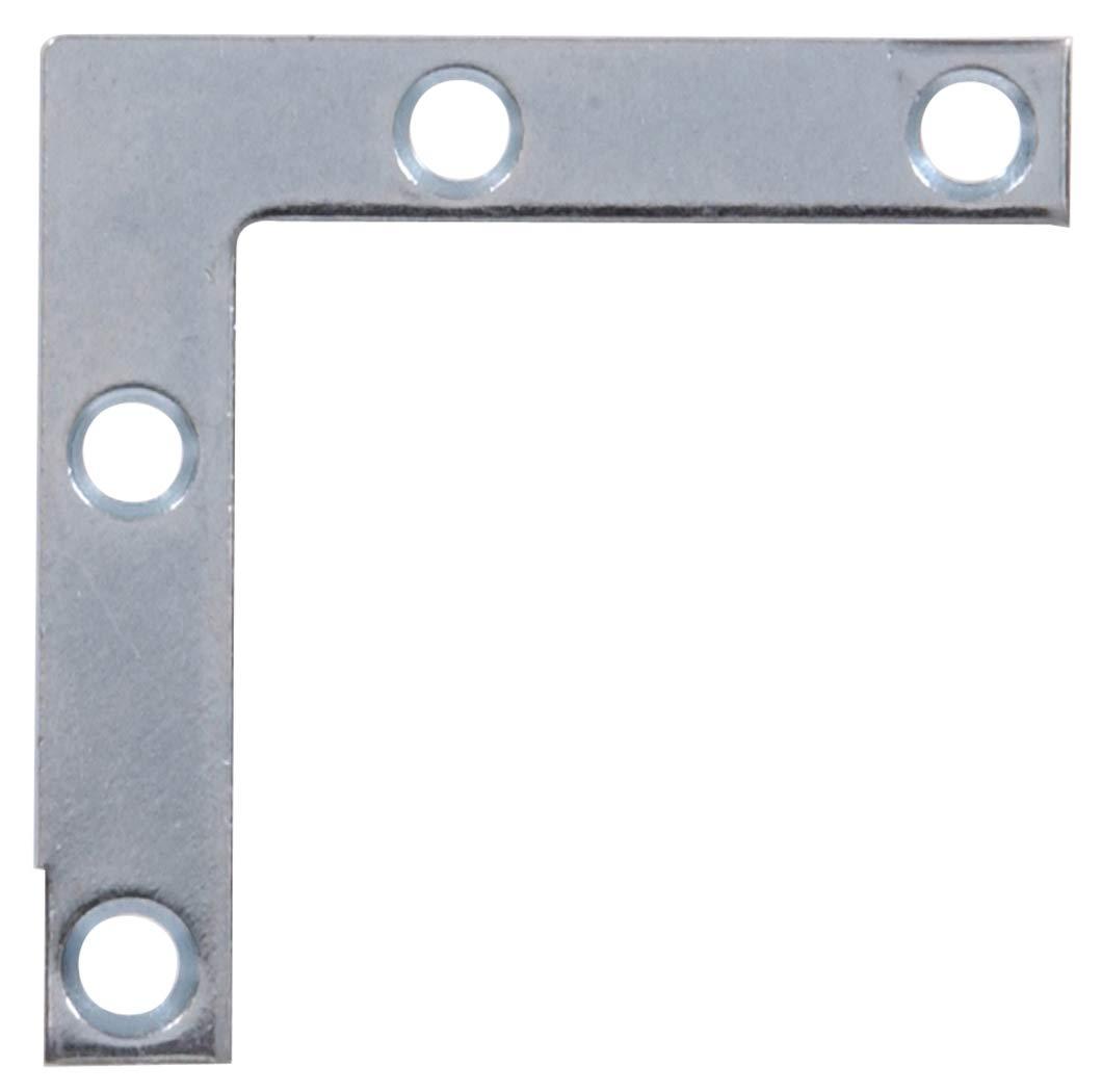 Hillman Hardware Essentials 851084 Flat Corner Iron Zinc 1 1 2 x 3 8 4 pack