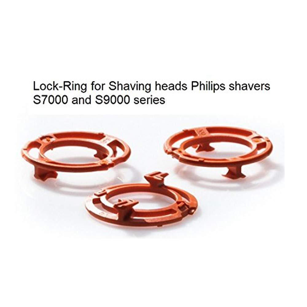 3 pcs Razor RQ12 bracket &lock Ring fit PHILPS shaver RQ1250 S9000 S7000 Shaver Head Bracket Replacement Parts Accessories 4G-Kitty