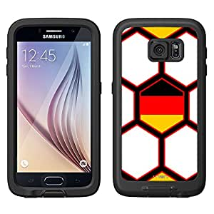 Skin Decal for LifeProof FRE Samsung Galaxy S6 Case - Soccer Ball Germany Flag