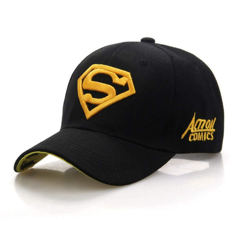 Outdoor Sports hat Baseball Cap Superman Cap Superman Baseball Cap Men Women Bone Diamond for Adult Trucker Hat Fashion GrljdHat (color   Black.Yellow)