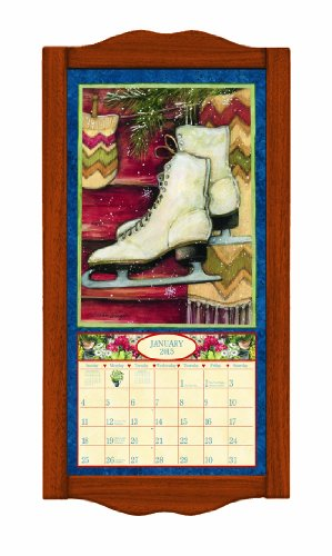 Lang Perfect Timing - Lang Classic Saddle Vertical Calendar Frame, 8.9 x 17.5 Inches (1015008)