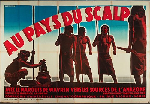 pays-du-scalp-au-1931-rare-original-french-four-panel-poster-64x96-directed-by-marquis-de-wavin-nati