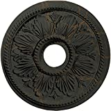 Ekena Millwork CM18ED1WHC Edinburgh Ceiling Medallion, Witch Hazel Crackle