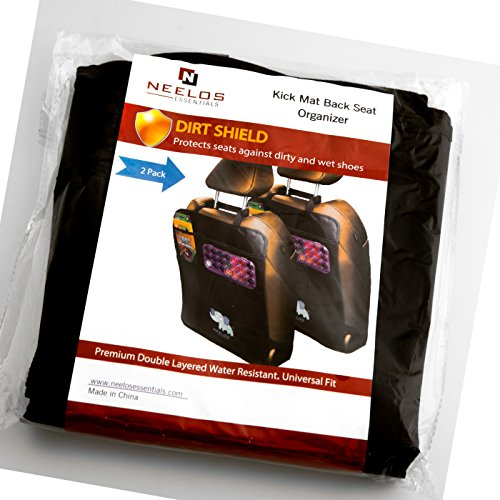Superior Car Seat Back Protectors, Kick Mats With Organizer, 2 Pack with FREE GIFT - Best Backseat Protector, Universal Fit, Car Seat Covers - Must Have Car Accessories For Kids by Neelos Essentials (Image #7)