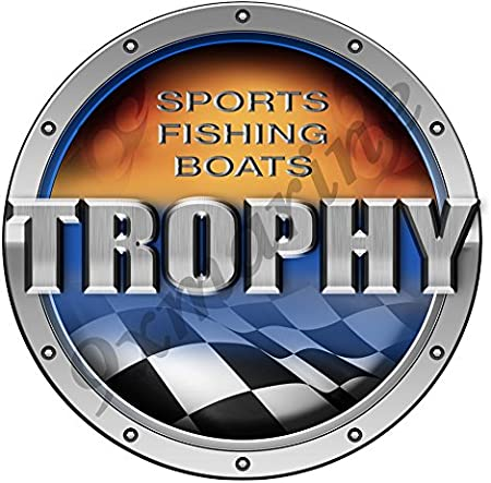 Trophy Round Techno Type Sticker 7.5X7.5 diameter