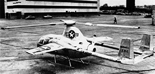 Home Comforts A Mcdonnell XV-1 Experimental Compound Helicopter, in 1954.