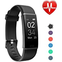 Letsfit Fitness HR, Activity Tracker with Heart Rate Monitor, IP67 Waterproof Smart Bracelet with Step Counter Pedometer Watch for Kids Women Men