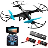 Force1 Drone Camera Live Video - Cool WiFi FPV Quadcopter & Smartphone Remote Control - RC Robot Hover Toys Adults, Teens, Kids, Boys & Girls w/ Extra Battery Indoor Outdoor Games