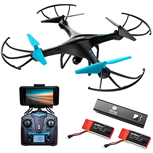 """Quadcopter Drone with Camera Live Video – """"Force1 U45WA"""" WiFi FPV Drone w/ HD Drone Camera and 2 Batteries for Drones with Camera for Adults + Kids"""