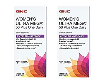 Womens Ultra Mega 50 Plus One Daily, 60 Count (2 Pack)