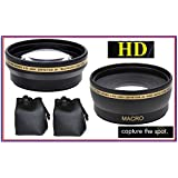 Wide Angle & Tele Lens for Sony HDR-PJ670 HDR-CX675 HDR-CX430 HDR-PJ650 HDRPJ430