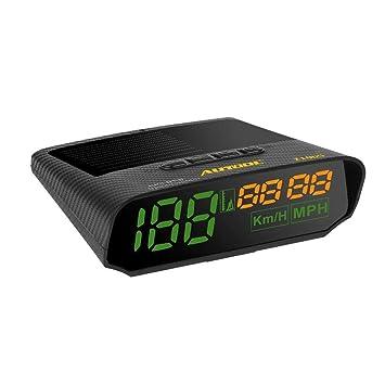 Pepional GPS HUD Coche de Energia Solar Largo de Advertencia de Velocidad del velocímetro Head Up