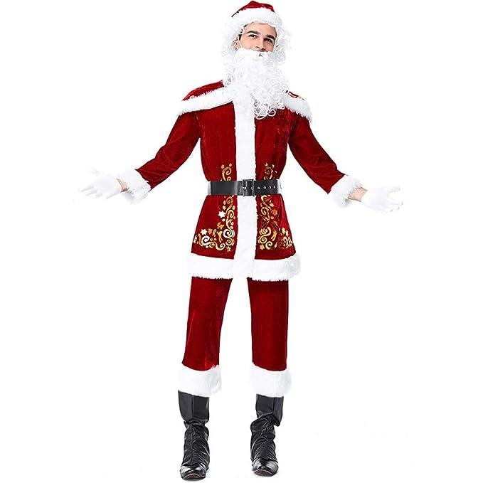 Amazon.com: BADI NA - Disfraz de Papá Noel para hombre, de ...