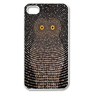 Wlicke Owl Customized Durable Iphone 4,4g,4s Case, New Style Protective Phone Case for Iphone 4,4g,4s with Owl