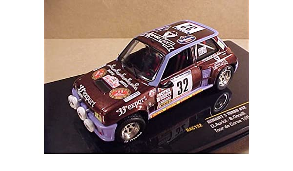 Amazon.com: Ikuso 1/43 Renault 5 turbo 84 Tour de Corse # 32 D.Auriol / B.Occelli finished product: Toys & Games