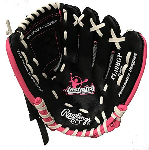 (Rawlings Players Series 10 inch Pink Softball Glove (Right Hand Throw))