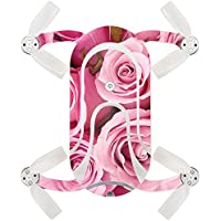 Skin For ZEROTECH Dobby Pocket Drone – Pink Roses | MightySkins Protective, Durable, and Unique Vinyl Decal wrap cover | Easy To Apply, Remove, and Change Styles | Made in the USA