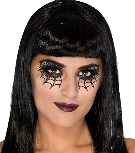 Spider Web Costume Accessories (Rubies Web Vixen Face Mask Tattoo)