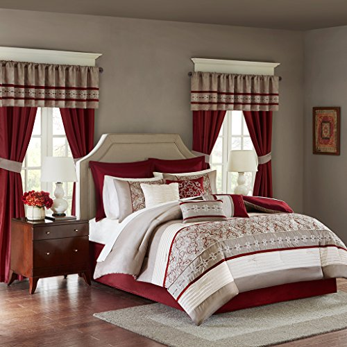 Madison Panel Bed (Jelena 24 Piece Room in a Bag Red King)