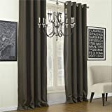 IYUEGO Solid Calm Classic Blackout Grommet Top Curtain Draperies With Multi Size Custom 72″ W x 102″ L (One Panel) For Sale