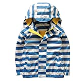 Hiheart Boys' Hooded Jackets Striped Cotton Lined...