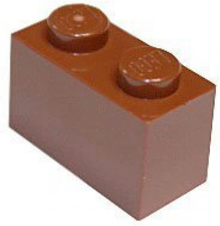 Lego Reddish Brown Plate 1x2 15 pieces NEW!!!