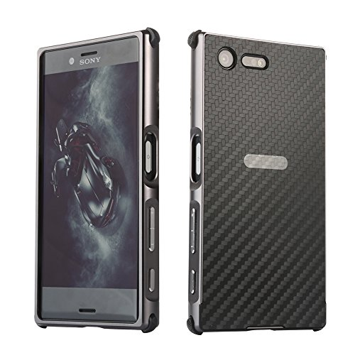 Aluminum Metal Bumper Case Shockproof Cover for Sony Xperia XZ Black - 6