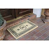 Leaf Border Coco Fibre Entry Mat (22x36 inches)-A1HOME200059-H