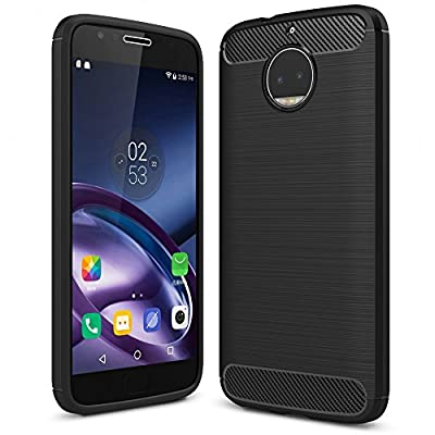 NALIA Silicone Case for Motorola Moto G5S Plus, Ultra-Thin Protective Cover Rugged Rubber-Case Gel Soft Skin, Shockproof Slim Back Bumper Protector Backcase Shell for Moto-G5S+ Smart-Phone - Black by NALIA