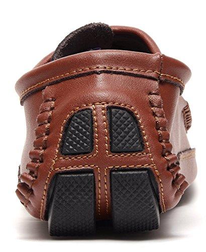 Odema Hommes Docksides PU/Suède Conduite Chaussures Bateau Pour Hommes Conduite Désigne Yrxz1263wc-marron xxykGl