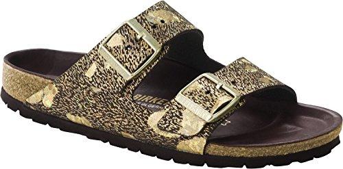Birkenstock Women's Arizona Lux Sandal Metallic Brown Leather Size 37 M EU by Birkenstock