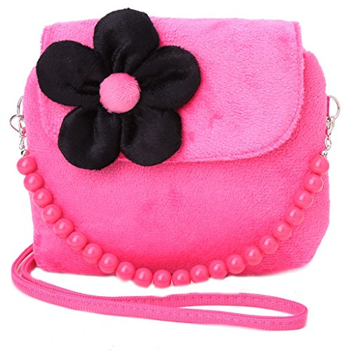 Dabixx Bolso Bandolera para Niños y Niñas, Diseño de Flor de Princesa, poliéster, Rosa, 14x12x4cm/5.51x4.72x1.57 Hot Pink