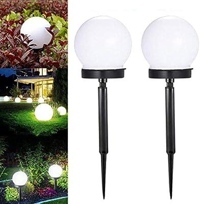 kouye 2pcs Portable Waterproof IP55 LED Solar Lawn Light Ground Light Garden Light In-Ground Lights Solar Garden Lawn Light for Patio Park Outdoor: Home & Kitchen