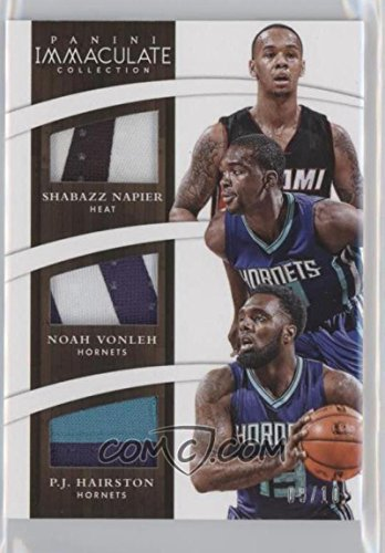 Basketball NBA 2014-15 Immaculate Trios Prime #59 Noah Vonleh/P.J. Hairston/Shabazz Napier 9/10 by immaculate