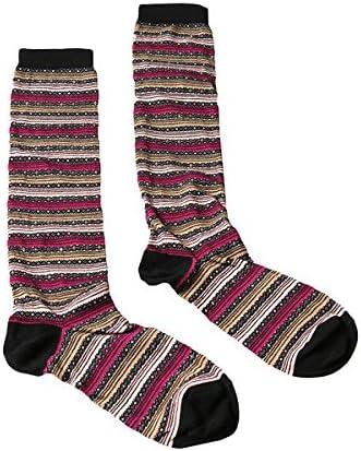 Missoni GM00CMD5220 0002 Tan//Fuschia Boot Socks for Womens
