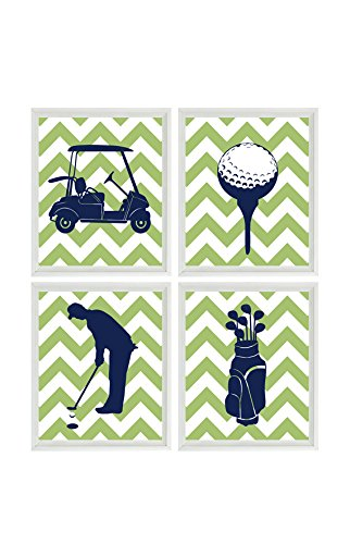 amazon com golf art prints golf nursery wall art baby boy nursery