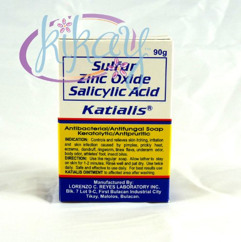 KATIALIS SOAP Sulfur Zinc Oxide Salicylic Acid Anti Fungal Anti Bacterial Soap 90 grams