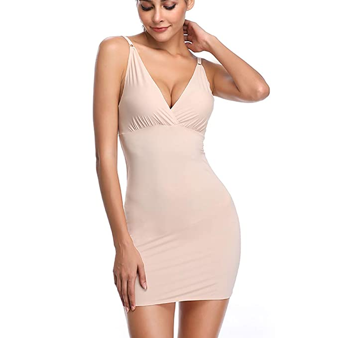 fc6ae2746aaad4 Full Slips for Under Dresses Slip Shapewear for Women Tummy Control Body  Shaping Control Slip (