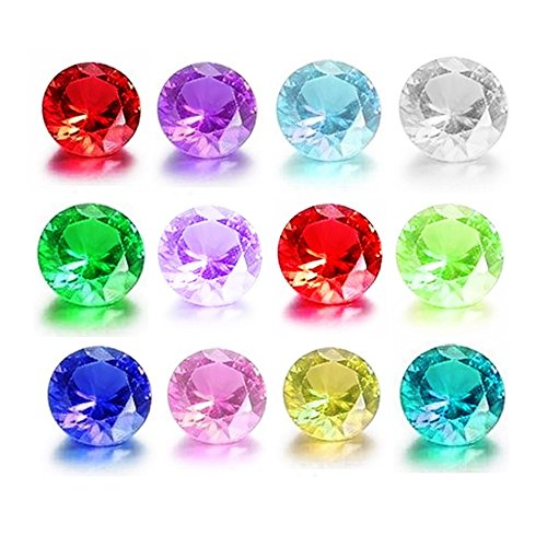 Glass Birthstones Floating Charms Round Crystal Rhinestones 5mm Set of 12 for Memory Lockets