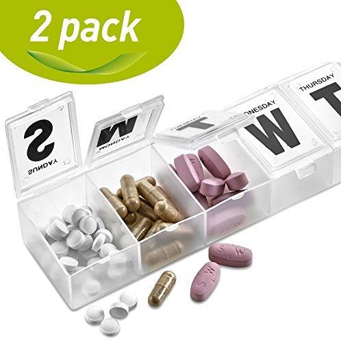 MEDca 7-day Pill Organizer Weekly Pill Planner PACK OF - Pill Pack