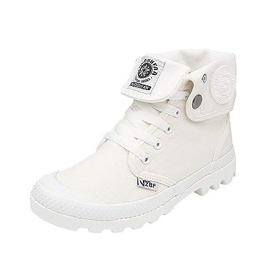 cheaper 527c7 193ae Zapatillas para Mujer by BaZhaHei, Zapatos de Mujer con Cordones Planos con  Cordones y Tobillo Militar ...