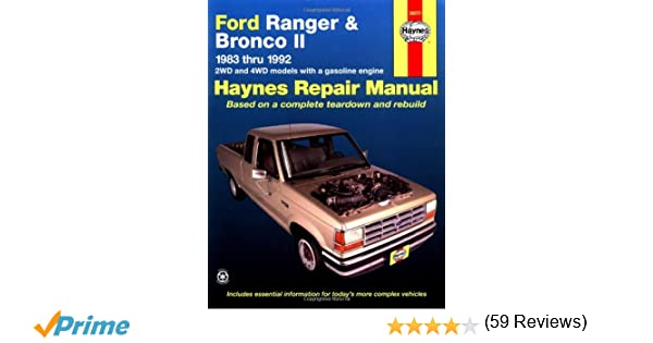 Haynes automotive repair manual ford ranger bronco ii 1983 haynes automotive repair manual ford ranger bronco ii 1983 thru 1992 haynes repair manuals haynes 0038345010262 amazon books fandeluxe Choice Image