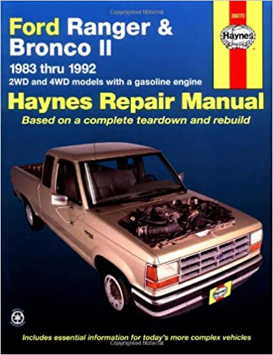 Ford ranger bronco ii 8392 haynes manuals haynes amazon ford ranger bronco ii 8392 haynes manuals haynes amazon books fandeluxe Gallery