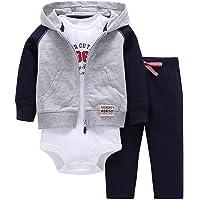 ARAUS Baby Kleidung Set Jungen Romper Langarm Sweatjacke Mädchen Outfits Hoodie Kombination 3-18 Monate
