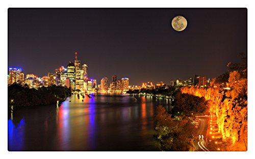 brisbane-australia-full-moon-moon-city-lights-night-river-furniture-decorations-magnet-fridge-magnet