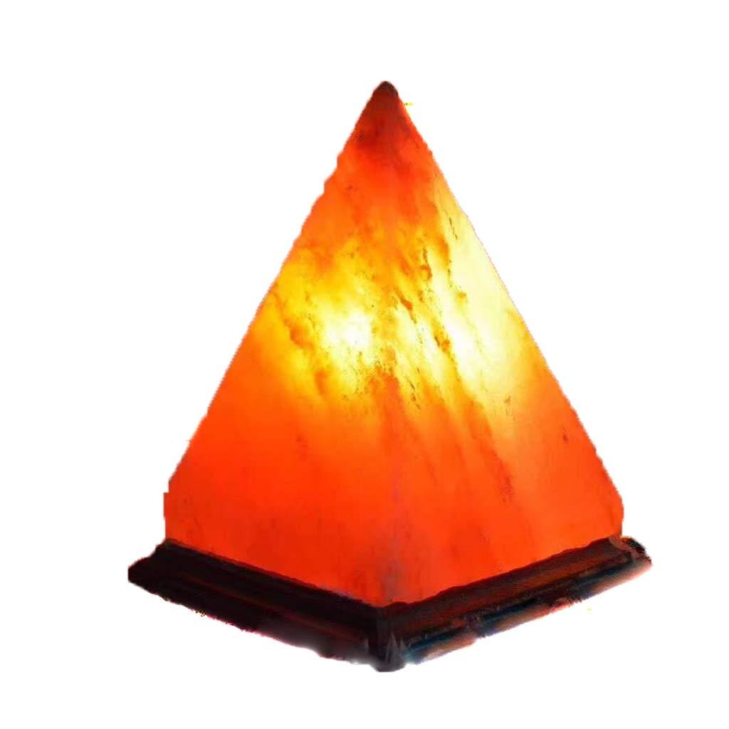 Bedside Table Lamp Salt Lamp Bedroom Rock Salt Night Light Release Negative Ion Dimmable Crystal Rock Hand Carved + Wooden Base Home Living Desk Lamp by Zunruishop